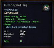 Fleet Fingered Ring