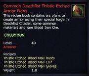 Common Deathfist Thistle Etched Armor Plans