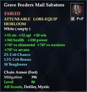Grave Feeders Mail Sabatons