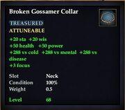 Broken Gossamer Collar