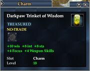 Darkpaw Trinket of Wisdom