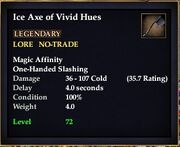 Ice Axe of Vivid Hues
