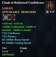 Cloak of Bolstered Confidence