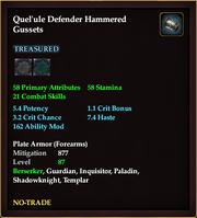 Quel'ule Defender Hammered Gussets