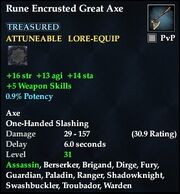 Rune Encrusted Great Axe