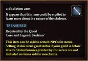 A skeleton arm