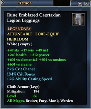 Rune Emblazed Caertaxian Legion Leggings