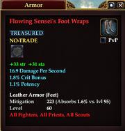 Flowing Sensei's Foot Wraps