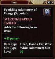 Sparkling Adornment of Energy (Superior)