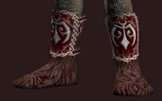Woven Bear Pelt Boots (Equipped)