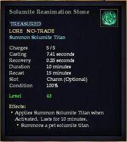 Solumite Reanimation Stone