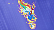 Rainbow Dash surging with electricity EG2