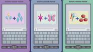 Rarity, Twilight, and Dash's phones EG2