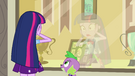 Twilight shocked by her reflection EG