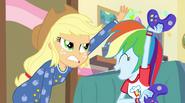 Rainbow taunting Applejack EG2