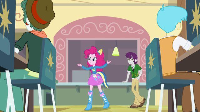 File:Pinkie Pie singing in lunch room.jpg