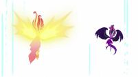 Daydream Shimmer and Midnight Sparkle in a white void EG3