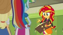 Sunset Shimmer explains how the book works EG2