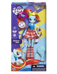 Equestria Girls Rainbow Dash standard doll packaging