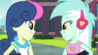Lyra and Sweetie Drops smiling wide EG3