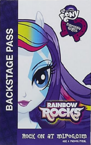 Rarity Equestria Girls Rainbow Rocks Backstage pass