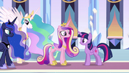 Princesses in the Empire throne room EG