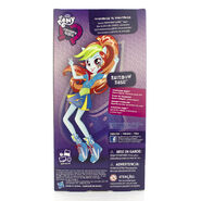 Friendship Games School Spirit Rainbow Dash back of packaging