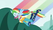 Rainbow drives vine monster into the dirt EG3