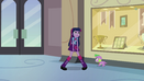 Twilight and Spike hear the school bell EG