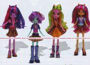Friendship Games School Spirit Shadowbolts dolls