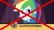 "Rainbow Dash misspells ""hippopotamus"" EG3"