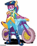 Friendship Games Rainbow Dash Sporty Style artwork