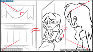 EG3 animatic - Sunset leaning against a locker
