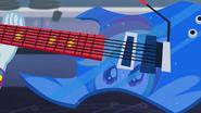 Rainbow's reflection in guitar EG2