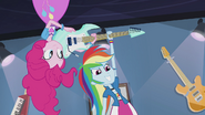 Pinkie hands guitar to Rainbow Dash EG2