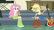 Applejack wonders about the transformation EG2