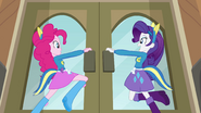 Pinkie Pie and Rarity opening the doors EG