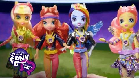 "MLP Equestria Girls Danmark - ""Venskab Spil Sporty Stil Deluxe Dolls"" T.V"