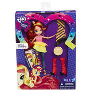 Rainbow Rocks Sunset Shimmer Fashion Doll packaging