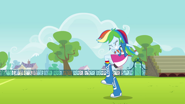 File:Rainbow Dash pumps a fist EG.png