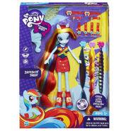 Equestria Girls Rainbow Dash hairstyling doll packaging