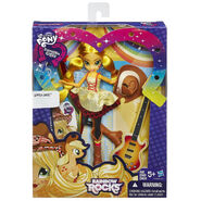 Rainbow Rocks Applejack Rockin' Hairstyle doll packaging