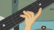 Applejack's hand on guitar neck EG2