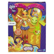 Rainbow Rocks Applejack Stamp Doll packaging