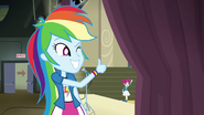 Rainbow gives majorette a thumbs-up EG3