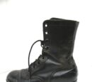 Boot, Combat, Leather, Black, Direct Molded Sole
