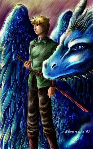 File:Dragon Rider Eragon by seifer sama.jpg