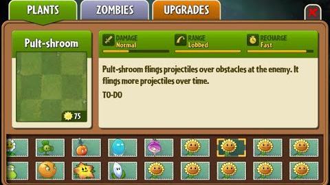 Pult-shroom - Scrapped Dark Ages Plant - Plants Vs. Zombies 2 It's About Time
