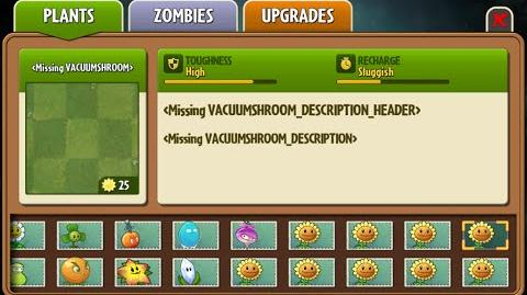 Vacuum-shroom - Scrapped Dark Ages Plant - Plants Vs. Zombies 2 It's About Time