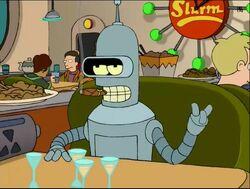 Bender, un ejemplo de un robot en la serie